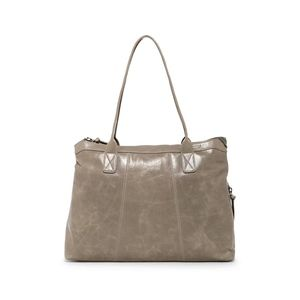 Hobo ARABELLA leather large work tote in STONE